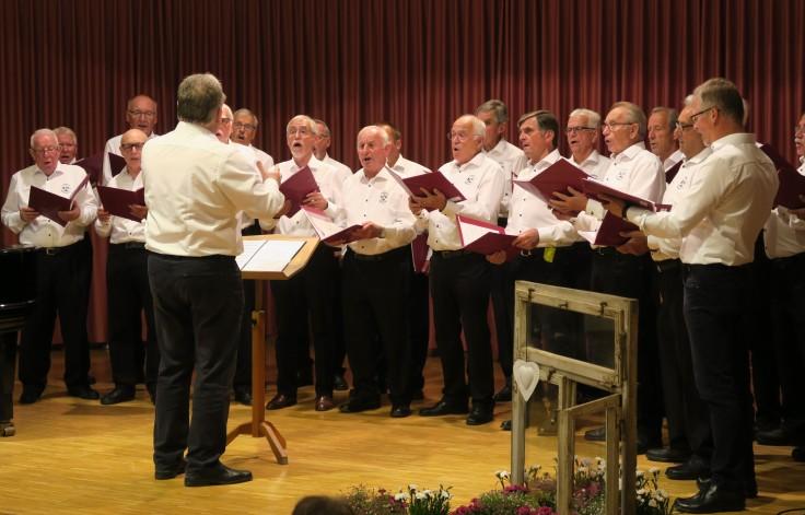 Männerchor dirigiert von Wolfgang Layer